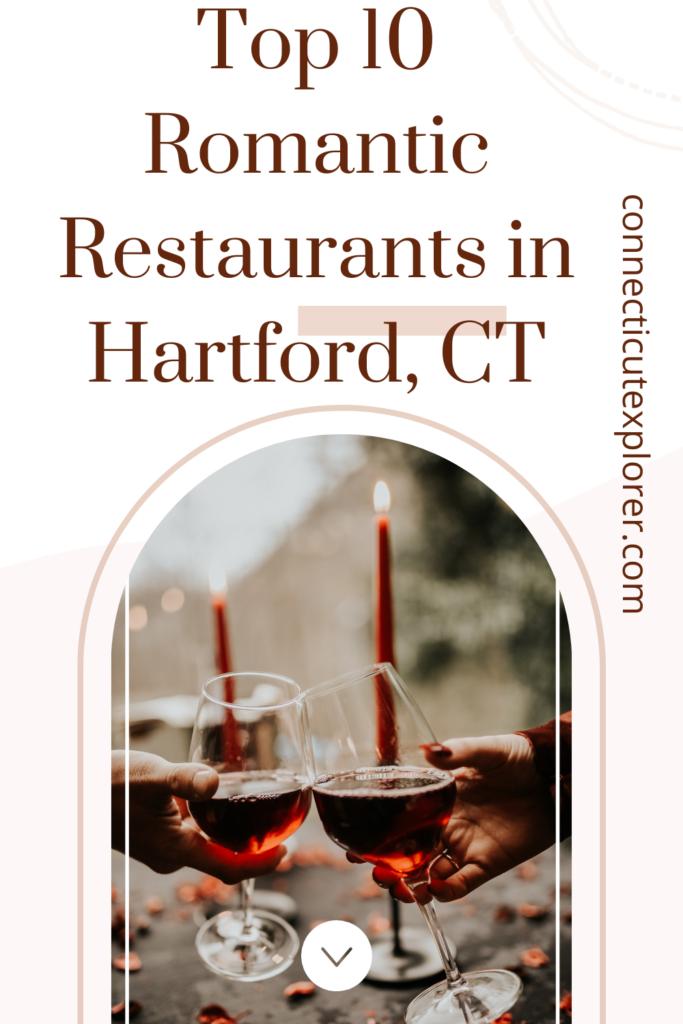 romantic restaurants in hartford ct pinterest image.