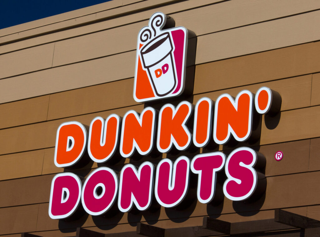 Image of Dunkin Donuts, a place people from Connecticut mislabel. One of many connecticut phrases.