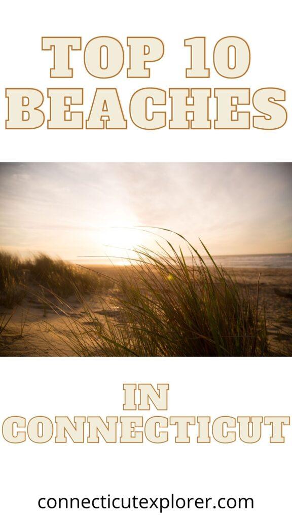 best beaches in Connecticut pinterest image.