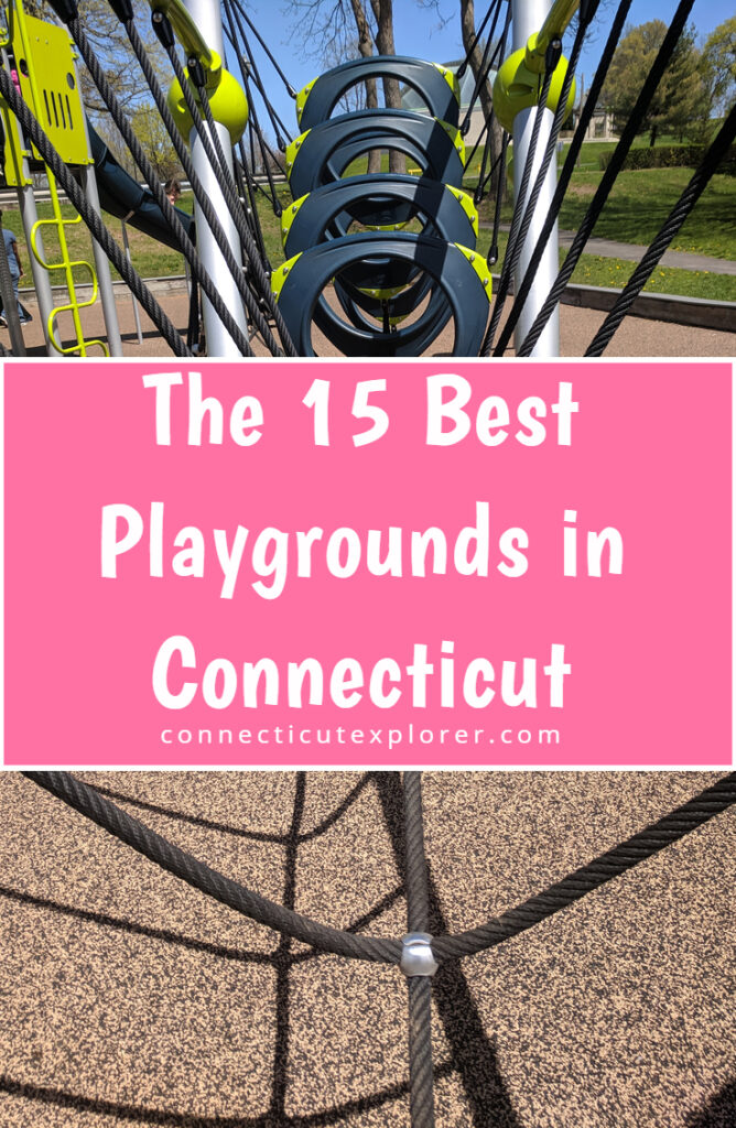 the 15 best playgrounds in ct pinterest image.