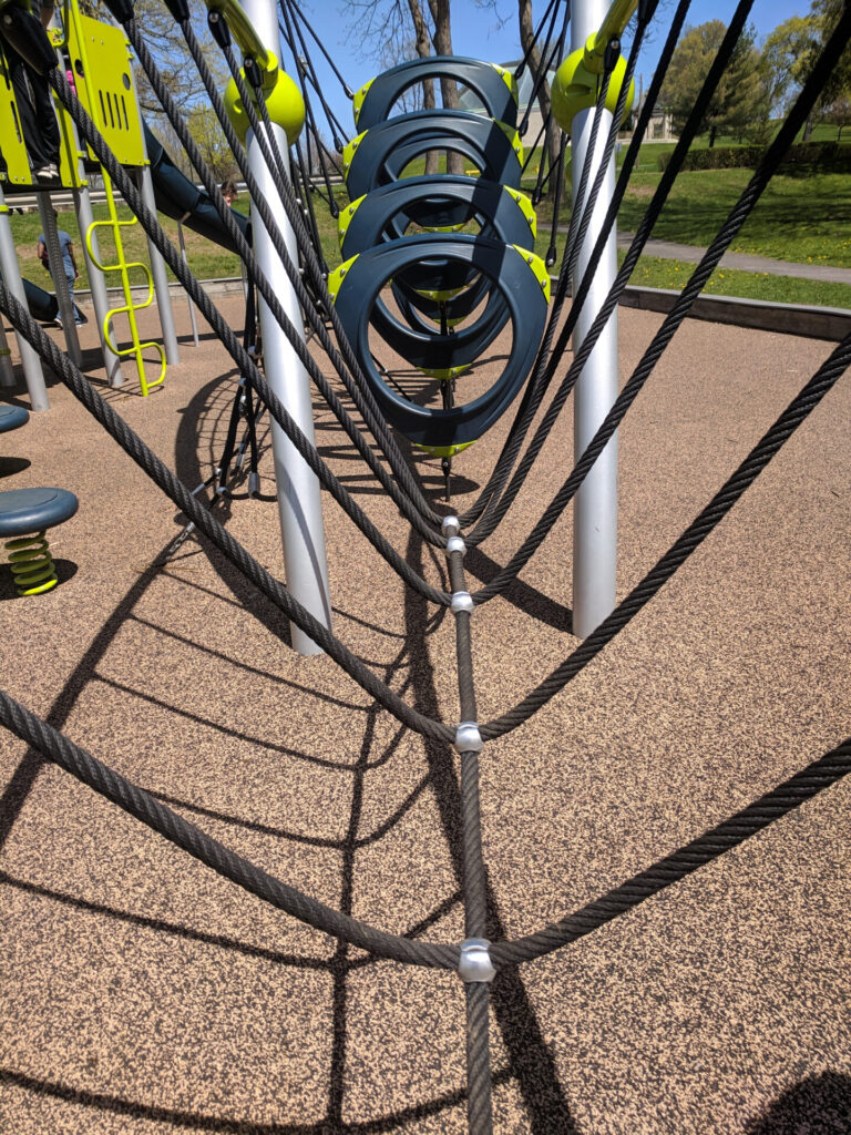 image of a playground in Connecticut.