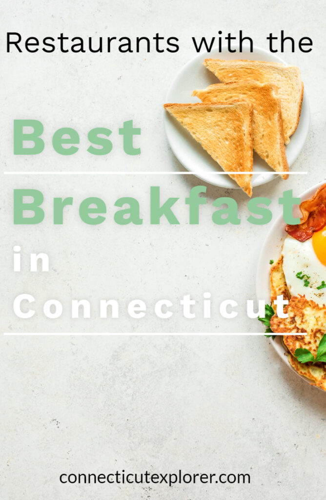 restaurants with the best breakfast in Connecticut pinterest image.