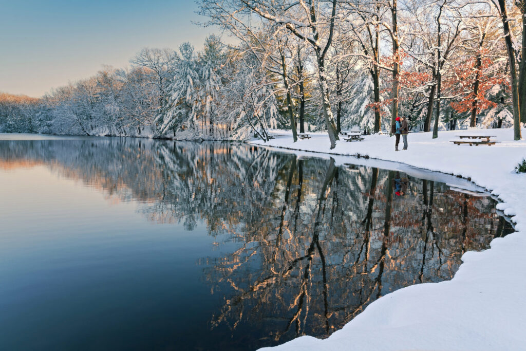 image of connecticut in the winter.